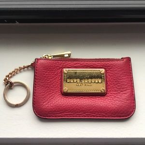 Pink Marc Jacobs Keychain Wallet